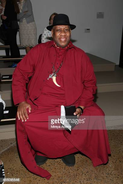 Andre Leon Talley attends Sophie Theallet runway show during MADE Fashion Week Spring 2015 at Milk Studios on September 9 2014 in New York City
