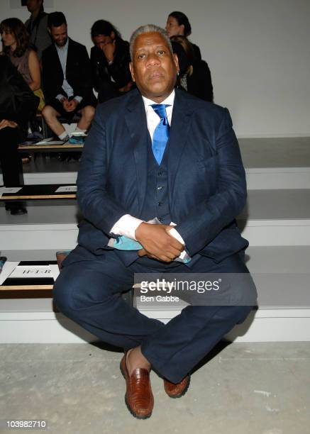 Andre Leon Talley attends the Costello Tagliapietra Spring 2011 fashion show during MercedesBenz Fashion Week at Milk Studios on September 10 2010 in...