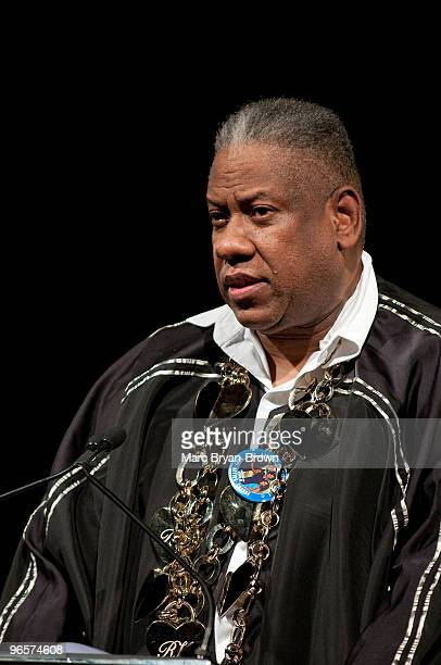 Andre Leon Talley attends the Gordon Parks Foundation's Celebrating Spring fashion awards gala at Gotham Hall on June 2 2009 in New York City