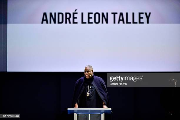 Andre Leon Talley attends the launch of iamPULS at Dreamforce 2014 on October 15 2014 in San Francisco California