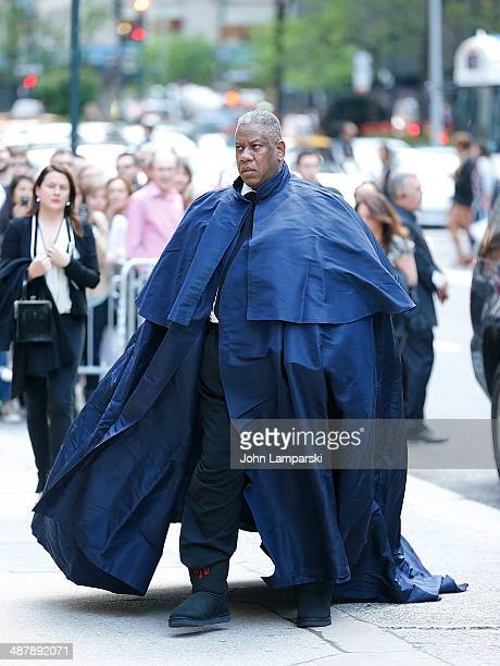 Andre Leon Talley attends the memorial service for L'Wren Scott at St Bartholomew's Church on May 2 2014 in New York City