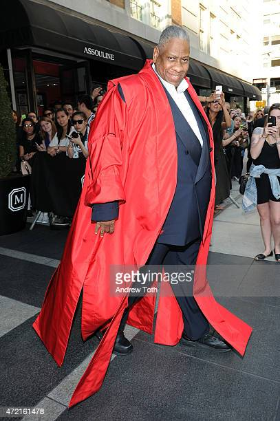 Andre Leon Talley departs The Mark Hotel for the Met Gala at the Metropolitan Museum of Art on May 4 2015 in New York City