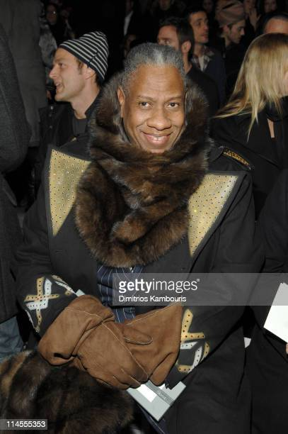 Andre Leon Talley during Mercedes-Benz Fashion Week Fall 2007 - Marc Jacobs - Front Row at New York State Armory in New York City, New York, United...