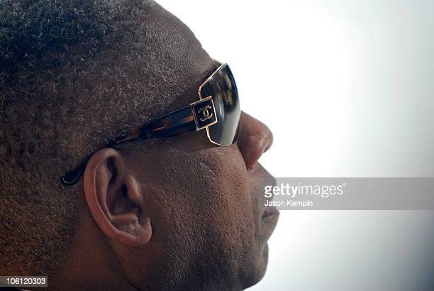 Andre Leon Talley during Olympus Fashion Week Spring 2007 Calvin Klein Front Row and Backstage at 205 W 39th Street in New York City New York United...