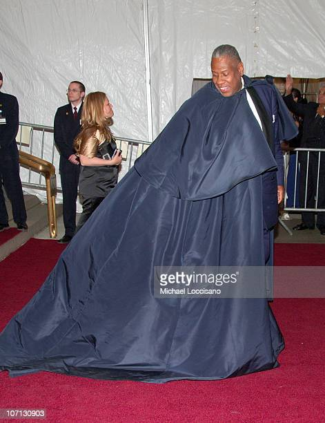 Andre Leon Talley during 'Poiret King of Fashion' Costume Institute Gala at The Metropolitan Museum of Art Departures at The Metropolitan Museum of...