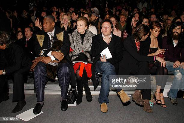 Andre Leon Talley Lee Radziwell Hamilton South Jack Huston Helena Christensen and Front Row attend MARC JACOBS Fall 2007 Collection at The Armory on...