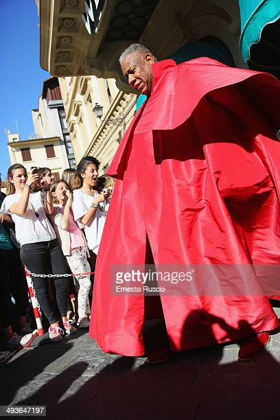 Andre Leon Talley sighting at the Wedding Of Kim Kardashian And Kanye West In Florence at Four Season Hotel on May 24 2014 in Florence Italy
