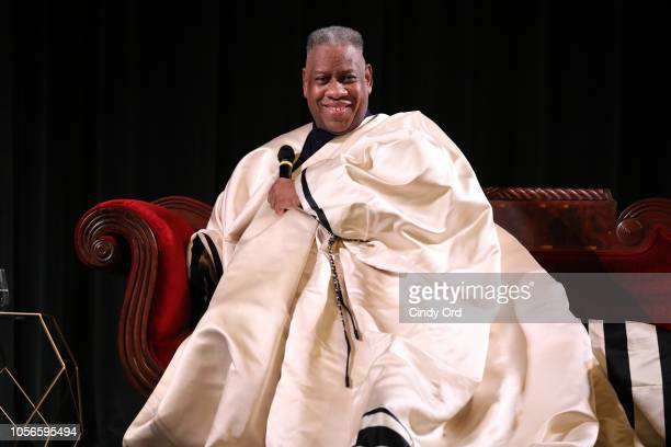 Andre Leon Talley speaks during 'The Gospel According to AndrŽ' Q&A during the 21st SCAD Savannah Film Festival on November 2, 2018 in Savannah,...