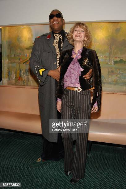 Andre Leon Tally and Loulou de la Falaise attend Andre Leon Talley and Robert Burke host at La Caravelle for Loulou de la Falaise Collection on...