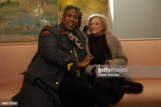 Andre Leon Tally and Nan Kempner attend Andre Leon Talley and Robert Burke host at La Caravelle for Loulou de la Falaise Collection on February 12...