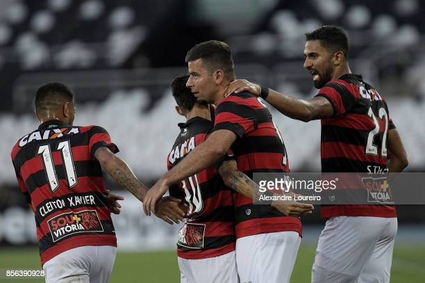 Andre Lima of Vitoria celebrates a scored goal during the match between Botafogo and Vitoria as part of Brasileirao Series A 2017 at Engenhao Stadium...
