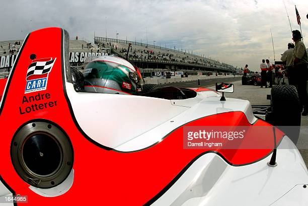 Andre Lotterer aboard the Dale Coyne Racing Ford Lola during practice for the Gran Premio GiganteTelmex round 19 of the CART Fed Ex Championship...