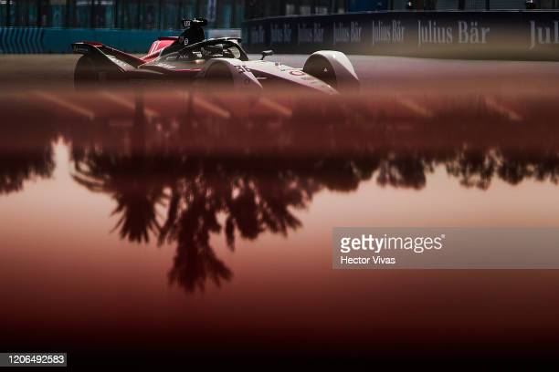 Andre Lotterer of Germany drives the TAG Heuer Porsche Formula E Team during the EPrix of Mexico City as part of the ABB FIA Formula E Championship...