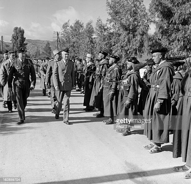 Andre Louis Dubois En decembre 1955 le haut fonctionnaire et préfet de Police de la seine Andre Louis DUBOIS en tournée au Maroc Ici au premier plan...