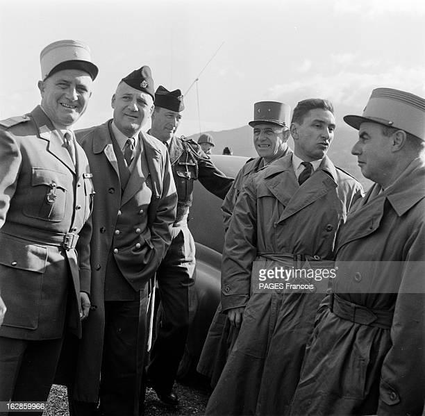 Andre Louis Dubois En decembre 1955 le haut fonctionnaire et préfet de Police de la seine Andre Louis DUBOIS en tournée au Maroc Ici second à gauche...