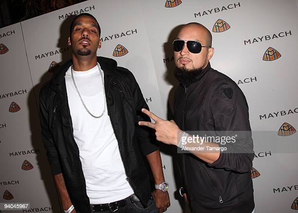 """Andre Lyon and Marcello Valenzano aka Cool & Dre attend Maybach presents David LaChapelle's """"Bliss Amongst Chaos"""" at the Raleigh Hotel on December 5,..."""