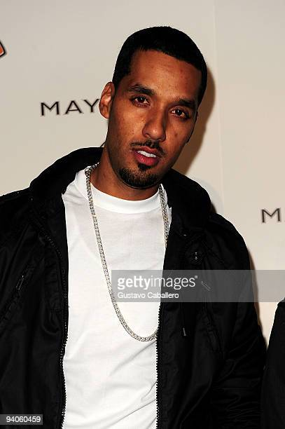 """Andre Lyon of Cool & Dre attend Maybach presents David LaChapelle's """"Bliss Amongst Chaos"""" at the Raleigh Hotel on December 5, 2009 in Miami Beach,..."""