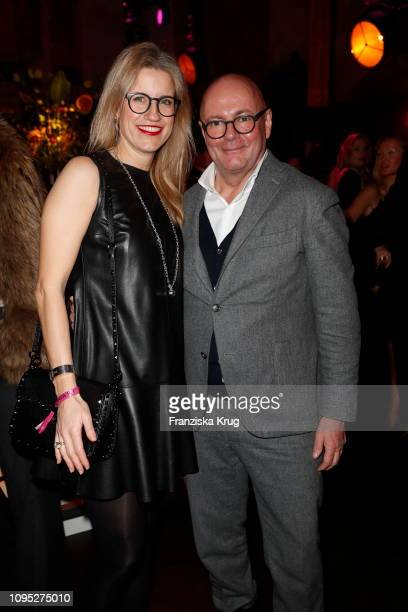 Andre Maeder and guest during the Bulgari party with the motto #Starsinbulgari on February 7 2019 in Berlin Germany