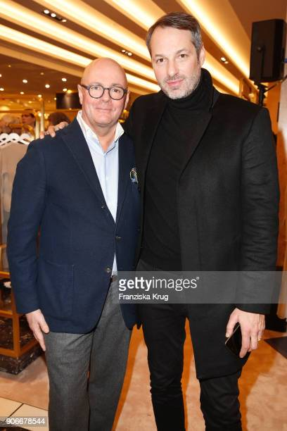 Andre Maeder and Marcus Kurz during the celebration of 'Der Berliner Salon' by KaDeWe Vogue at KaDeWe on January 18 2018 in Berlin Germany
