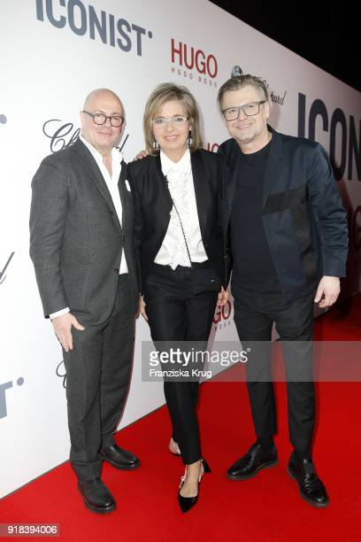 Andre Maeder Inga Griese and Peter Deirowski during the Young ICONs Award in cooperation with ICONIST at SpindlerKlatt on February 14 2018 in Berlin...