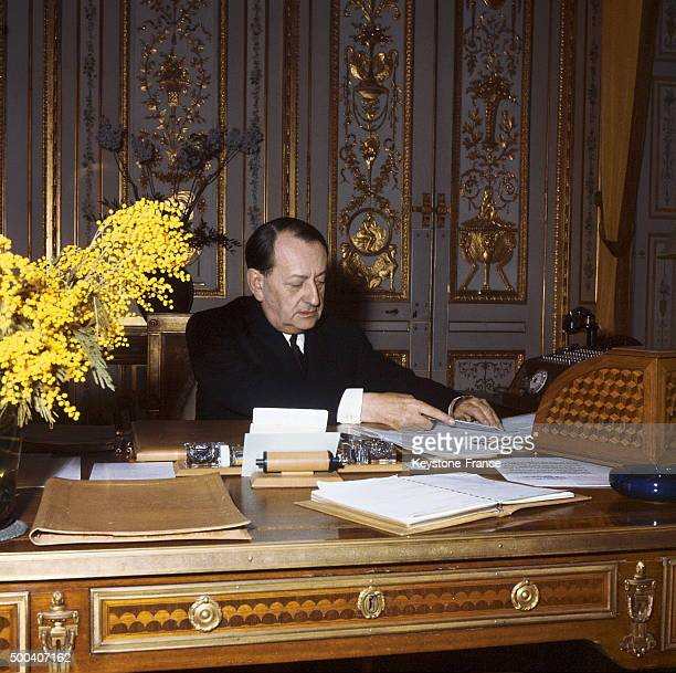 Andre Malraux Minister for cultural affairs circa 1960 in Paris France