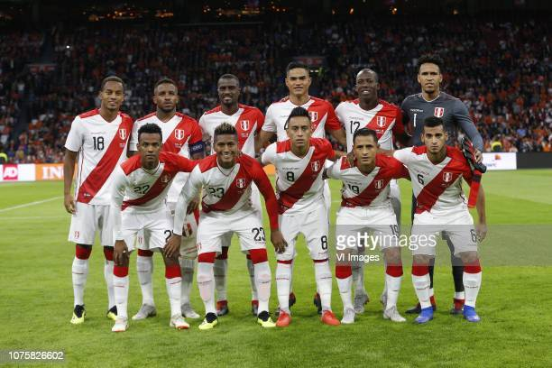 Andre Martin Carillo Diaz of Peru Jefferson Farfan of Peru Pedro David Gallese Quiroz of Peru7 Anderson Santamaria Bardales of Peru Patricio Leonel...