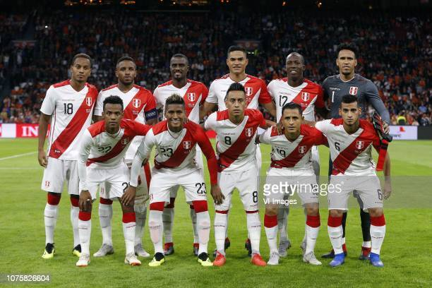 Andre Martin Carillo Diaz of Peru Jefferson Farfan of Peru Pedro David Gallese Quiroz of Peru Anderson Santamaria Bardales of Peru Patricio Leonel...