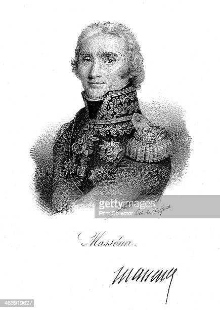 Andre Massena French soldier c1820 Regarded as one of Napoleon's greatest generals Massena first distinguished himself in the revolutionary wars He...