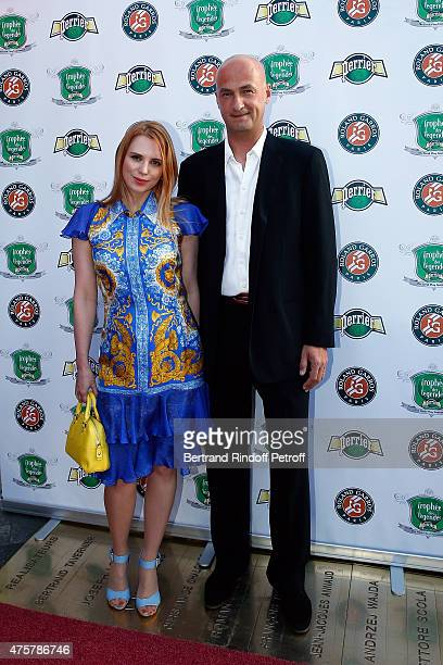 Andre Medvedev and guest attend the Trophee des Legendes Dinner at Le Fouquet's champs Elysees on June 3 2015 in Paris France