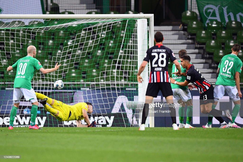 SV Werder Bremen v Eintracht Frankfurt - Bundesliga : Nachrichtenfoto