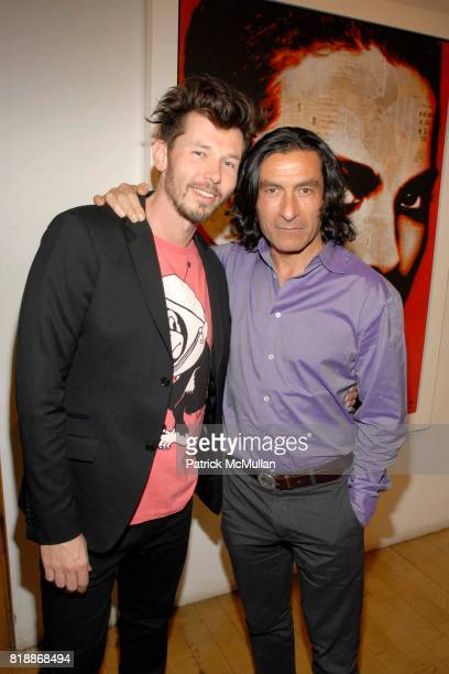Andre Monet and Eric Allouche attend Opera Gallery Opening Voigt Monet and Vukelic at Opera Gallery on April 15 2010 in New York City
