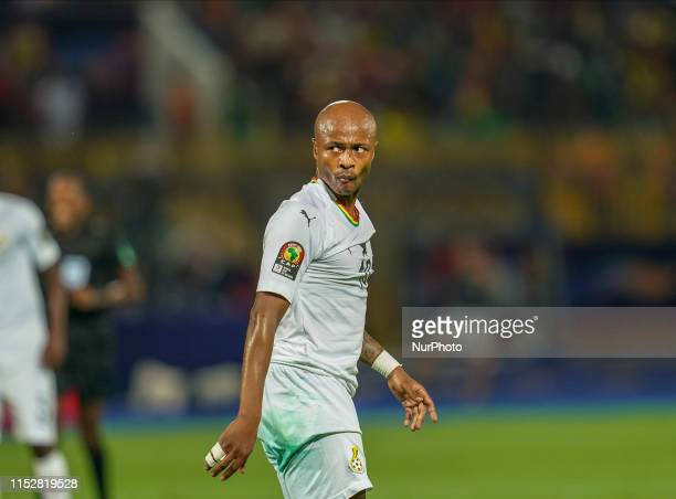 Andre Morgan Rami Ayew of Ghana during the 2019 African Cup of Nations match between Cameroon and Ghana at the Ismailia stadium in Ismailia, Egypt on...