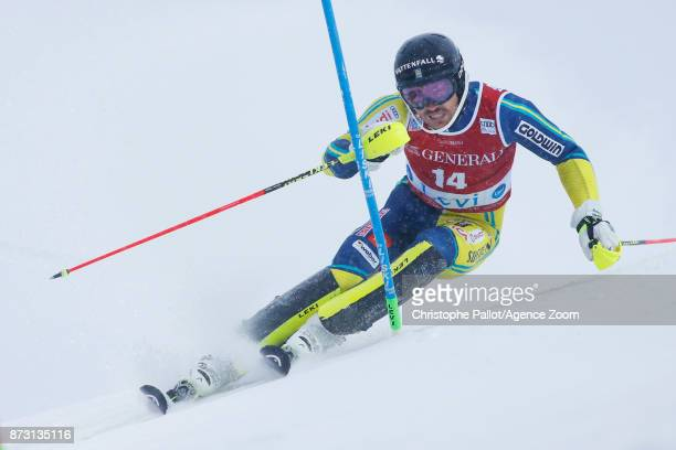 Andre Myhrer of Sweden competes during the Audi FIS Alpine Ski World Cup Men's Slalom on November 12 2017 in Levi Finland