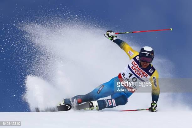 Andre Myhrer of Sweden competes in the Men's Giant Slalom during the FIS Alpine World Ski Championships on February 17 2017 in St Moritz Switzerland
