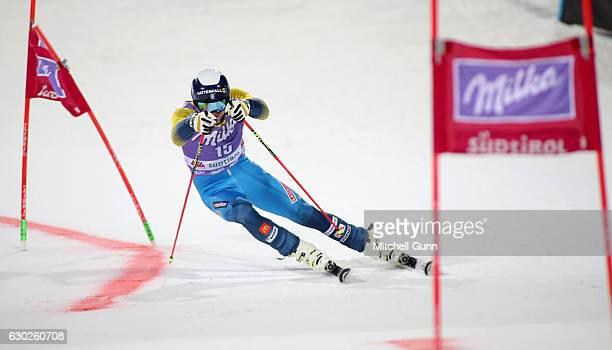 Andre Myhrer of Sweden during the Audi FIS Alpine Ski World Cup Men's Parallel Giant Slalom race on December 19 2016 at Alta Badia Italy