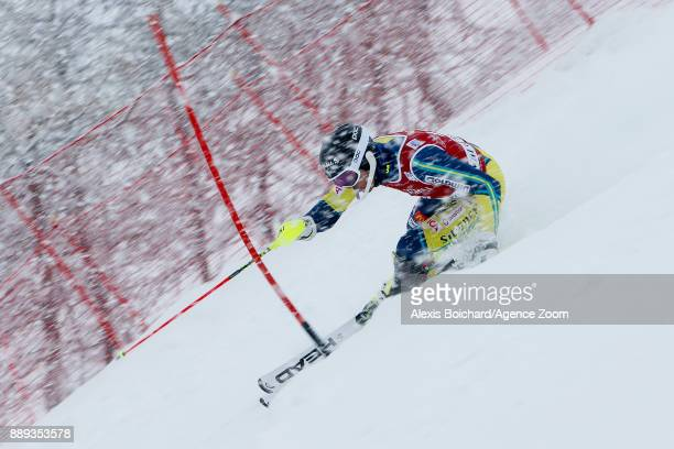 Andre Myhrer of Sweden in action during the Audi FIS Alpine Ski World Cup Men's Slalom on December 10 2017 in Vald'Isere France