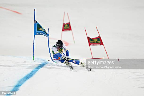 Andre Myhrer of Sweden takes 3rd place during the Audi FIS Alpine Ski World Cup Men's Parallel Giant Slalom on December 21 2015 in Alta Badia Italy