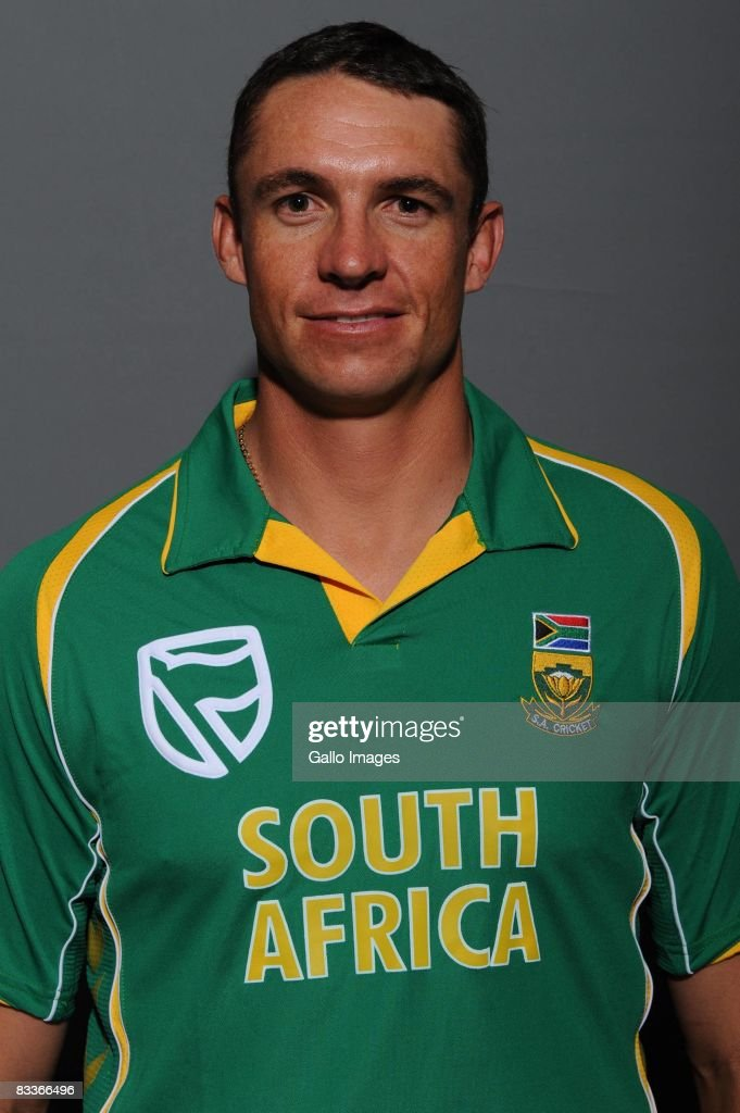 Andre Nel poses during the South African One Day International team portait session at Grayston Southern Sun on October 20, 2008 in Johannesburg, South Africa.