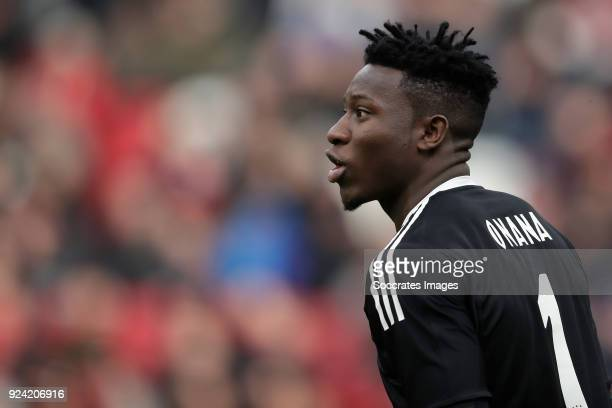Andre Onana of Ajax during the Dutch Eredivisie match between Ajax v ADO Den Haag at the Johan Cruijff Arena on February 25 2018 in Amsterdam...