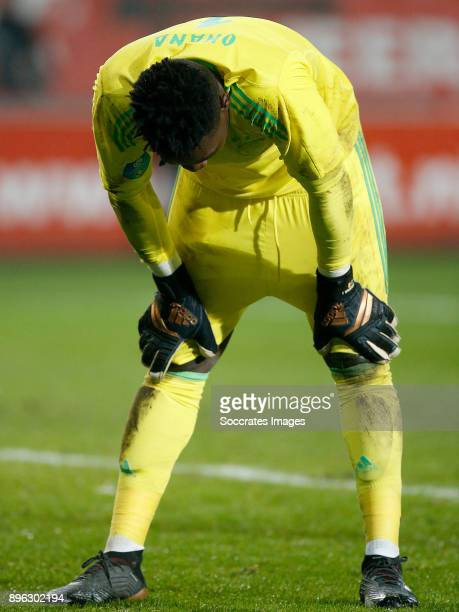 Andre Onana of Ajax during the Dutch KNVB Beker match between Fc Twente v Ajax at the De Grolsch Veste on December 20 2017 in Enschede Netherlands