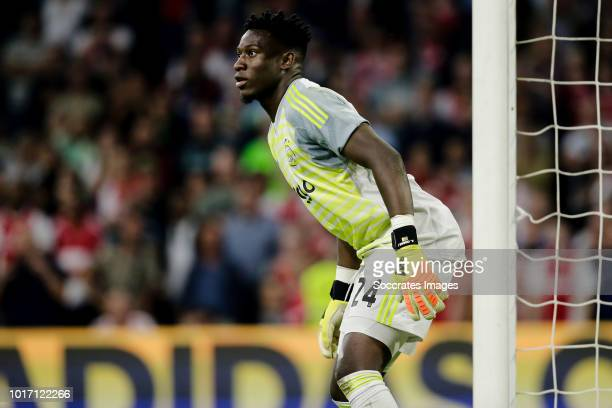 Andre Onana of Ajax during the UEFA Champions League match between Ajax v Standard Luik at the Johan Cruijff Arena on August 14 2018 in Amsterdam...