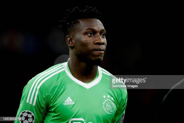 Andre Onana of Ajax during the UEFA Champions League match between Ajax v Benfica at the Johan Cruijff Arena on October 23 2018 in Amsterdam...