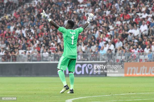 Andre Onana of Ajax during the UEFA Champions League Qualifying match between Nice and Ajax Amsterdam at Allianz Riviera Stadium on July 26 2017 in...