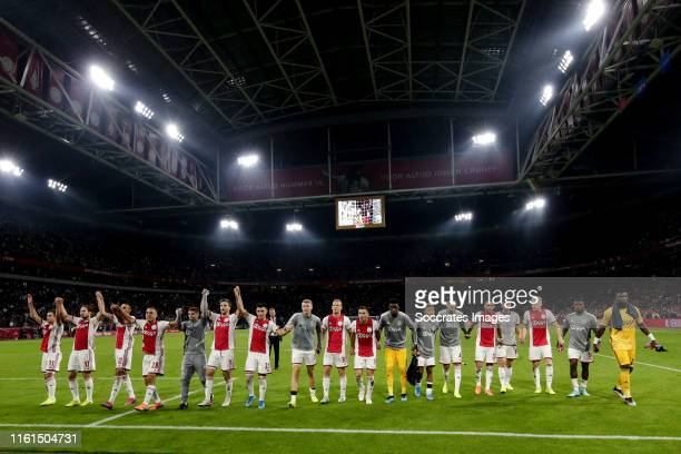 Andre Onana of Ajax Joel Veltman of Ajax Donny van de Beek of Ajax David Neres of Ajax Dusan Tadic of Ajax Noussair Mazraoui of Ajax Daley Blind of...
