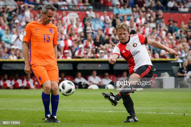 Andre Ooijer Dirk Kuyt during the Dirk Kuyt Testimonial at the Feyenoord Stadium on May 27 2018 in Rotterdam Netherlands