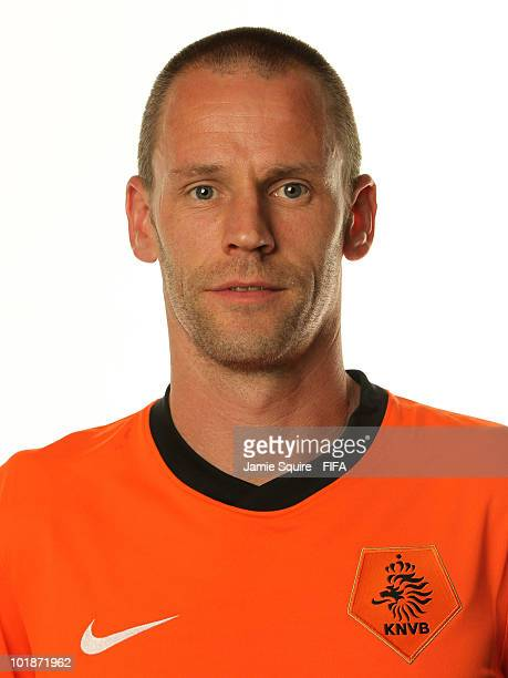 Andre Ooijer of The Netherlands poses during the official FIFA World Cup 2010 portrait session on June 7 2010 in Johannesburg South Africa