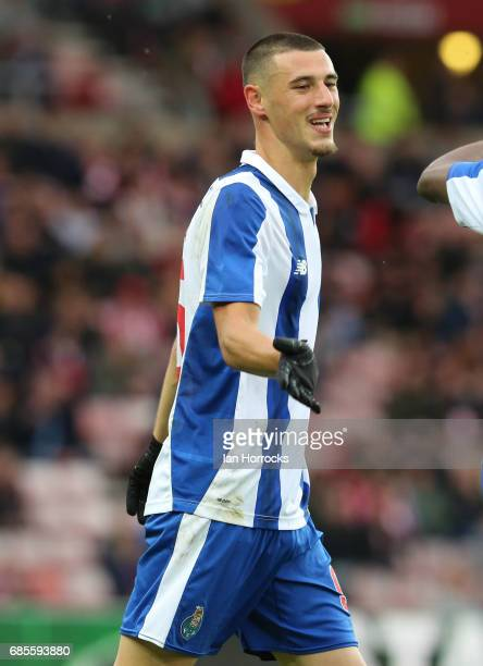 Andre Pereira of Porto during the Premier League International cup Final match between Sunderland and Porto at Stadium of Light on May 17 2017 in...