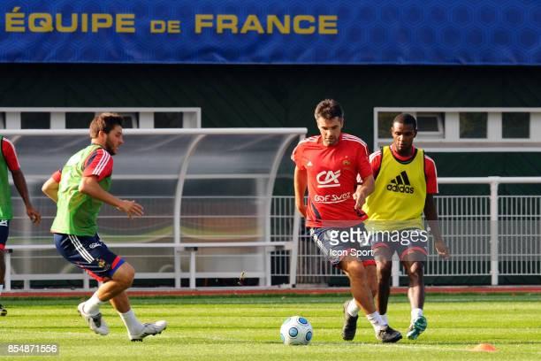 Andre Pierre GIGNAC Entrainement de l equipe de France a Clairefontaine en vue du match contre la Roumanie Eliminatoires Coupe du Monde 2010