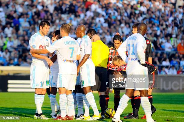 Andre Pierre GIGNAC / Benoit CHEYROU Marseille / Nice Match en retard de la 32e journee Ligue 1