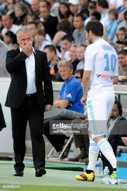 Andre Pierre GIGNAC / Didier DESCHAMPS Marseille / Auxerre 33e journee de Ligue 1